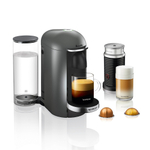Breville Nespresso VertuoPlus Deluxe Titan Espresso and Coffee Machine Bundle with Aeroccino Milk Frother