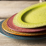 Colors of Italy Mixed Color Ceramic 11-Inch Dinner Plate Set of 4