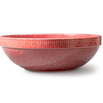Colors of Italy Pompeian Red Ceramic 11-Inch Salad Serving Bowl
