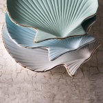 Mediterraneo Mixed Color Ceramic 11-Inch Scallop Dish Set of 3