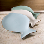 Mediterraneo Mixed Color Ceramic 13-Inch Fish Dish Set of 3