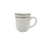 Mediterraneo Cream Ceramic 13-Ounce Mug Set of 4