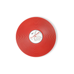 Foodesign Viniles Red 12-1/5-Inch Round Bamboo Fiber Plate, Set of 2