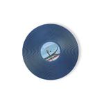 Foodesign Viniles Navy Blue 12-1/5-Inch Round Bamboo Fiber Plate, Set of 2
