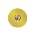 Foodesign Viniles Yellow 12-1/5-Inch Round Bamboo Fiber Plate, Set of 2
