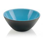 Guzzini My Fusion Blue and Black Acrylic 9.8 Inch Bowl