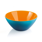 Guzzini My Fusion Orange and Sea Blue Acrylic 9.8 Inch Bowl