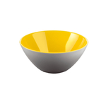 Guzzini My Fusion Yellow and Grey Acrylic 9.8 Inch Bowl