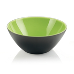 Guzzini My Fusion Kiwi Green and Black Acrylic 9.8 Inch Bowl