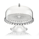 Guzzini Tiffany Transparent Acrylic Small Cake Stand with Dome Lid
