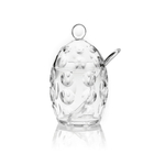 Guzzini Venice Transparent Acrylic Sugar Bowl with Spoon