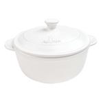 Aroma DoveWare Linen White 4 Quart Covered Dutch Oven