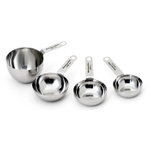 KitchenAid KN058OHSSA Gourmet Stainless Steel 4 Piece Measuring Cup Set