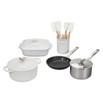 Le Creuset White 12 Piece Mixed Material Cookware Set