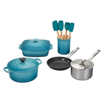 Le Creuset Caribbean 12 Piece Mixed Material Cookware Set
