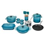Le Creuset Caribbean 20 Piece Mixed Material Cookware Set