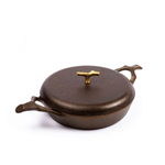 Nest Homeware Cast Iron 12 Inch Braising Pan with Lid