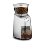 Capresso Brushed Stainless Steel Finish Infinity Burr Coffee Grinder