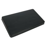 Black Rectangular Burner Covers, Set of 2