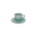 Costa Nova Madeira Blue Coffee Cup and Saucer, Set of 6