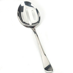 Monty's Polished Stainless Steel Slotted Serving Spoon