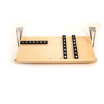 The Drop Block Unfinished 24 x 9.5 Inch Under Cabinet Knife Block