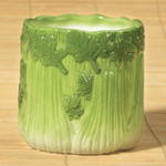 Gourmet Home Collection Ceramic Celery Stick Utensil Holder