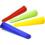 Norpro Multicolored Silicone Ice Pop Maker, Set of 12