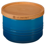 Le Creuset Marseille Stoneware 12 Ounce Canister with Wooden Lid
