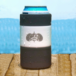 Toadfish Outfitters White Stainless Steel Non-Tipping Can Cooler with Slim Adapter