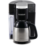NuWave Bruhub Single Serve Coffee Maker with Stainless Steel Carafe and Bruhub Charcoal Filters