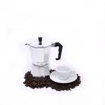 Cilio Classico 6 Cup Espresso Maker with Cilio Roma White Porcelain Espresso Cup & Saucer