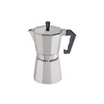 Cilio Classico Induction Espresso Maker with Cilio Roma Dark Grey Porcelain Espresso Cup & Saucer