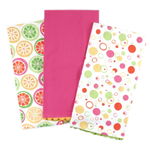 Citrus Summer Splash 3 Piece Cotton Kitchen Towel Set, 19 x 27 Inch