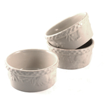 Bone Colored Ramekin Set 3 Piece