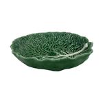 Bordallo Pinheiro Green Cabbage Earthenware Oval Salad Bowl