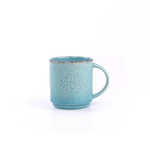 Foodesign Colors of Italy Blue Stoneware Mug, Set of 4
