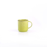 Foodesign Colors of Italy Green Stoneware Mug, Set of 4