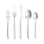 Fortessa Velo Brushed 18/10 Stainless Steel 5 Piece Flatware Set
