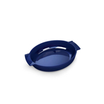 Peugeot Saveurs Appolia Ecru Blue Ceramic 2.3 Quart Oval Baking Dish