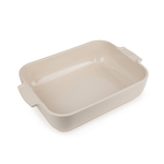 Peugeot Appolia Cream Ceramic 2.9 Quart Rectangular Baking Dish