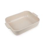 Peugeot Appolia Cream Ceramic 2.9 Quart Rectangular Baking Dish