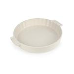 Peugeot Saveurs Appolia Creme Ceramic 2.3 Quart Round Meat Pie Baking Dish
