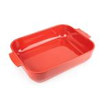 Peugeot Appolia Red Ceramic 5.5 Quart Rectangular Baking Dish