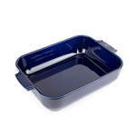 Peugeot Appolia Blue Ceramic 2.9 Quart Rectangular Baking Dish