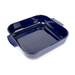 Peugeot Appolia Blue Ceramic 4 Quart Square Baking Dish