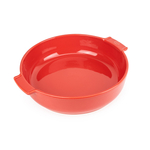 Peugeot Appolia Red Ceramic 4 Quart Round Baking Dish