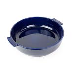 Peugeot Appolia Blue Ceramic 4 Quart Round Baking Dish