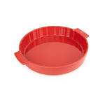 Peugeot Saveurs Appolia Red Ceramic 2.3 Quart Round Meat Pie Baking Dish