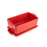 Peugeot Saveurs Appolia Red Ceramic 24.5 Ounce Rectangular Terrine Baking Dish